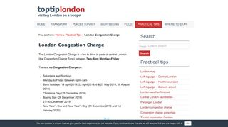 London Congestion Charge   Price, Hours and Where to Pay