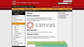 Canvas - City College of San Francisco