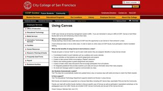 Using Canvas - City College of San Francisco