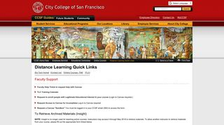 Distance Learning Quick Links - City College of San Francisco