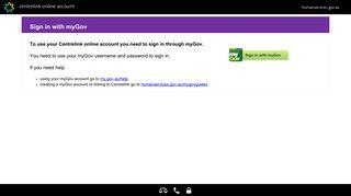 Centrelink Online Account