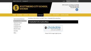 Chalkable/InformationNow - Scottsboro City School