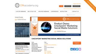 checkpoint marketing social media solutions - CPA Academy