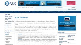 ASX Settlement - ASX