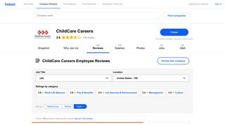 Working at ChildCare Careers: 106 Reviews | Indeed.com