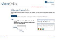 Advisor Online - CI Investments