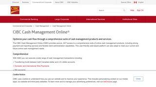 CIBC Cash Management Online   CIBC - CIBC.com