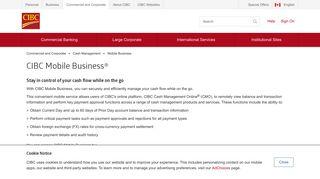 CIBC Mobile Business   Cash Management   CIBC - CIBC.com