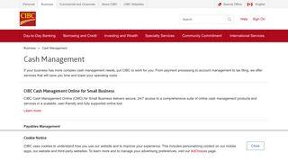 Cash Management   Business Banking   CIBC