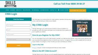 CIMA Login   Distance Learning Studies   Skills Academy Skills ...