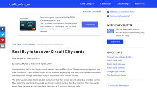 Best Buy takes over Circuit City cards - Credit Cards