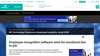Employee recognition software aims for emotional ties to job