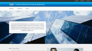 International Personal Banking - Citi.com