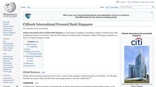 Citibank International Personal Bank Singapore - Wikipedia