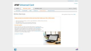 AT&T Universal Card: Online Services
