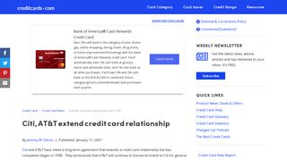 Citibank continues partnership with AT&T - Credit Cards