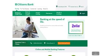 Mobile Banking and Online Banking | View Our Solutions | Citizens Bank