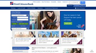 First Citizens Bank: Personal Banking, Credit Cards, Loans