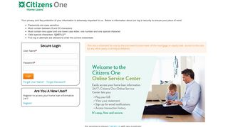 Citizens One: Login to Your Home Loan Account