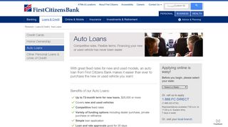 Car Loans | Auto Loan | First Citizens Bank
