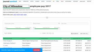 City of Milwaukee employee salaries 2017 - jsonline.com