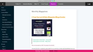 Monthly Magazines – Civilsdaily