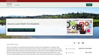 How to Learn Math: For Students   Stanford Lagunita