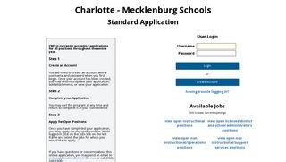Apply - Standard Application Login