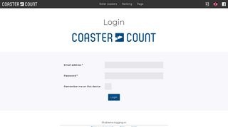 Login - Coaster-Count