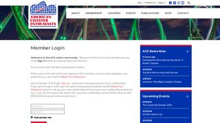 Login - American Coaster Enthusiasts