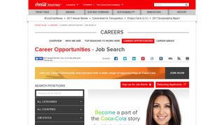 Career Opportunities: Job Search Tool: The Coca-Cola Company