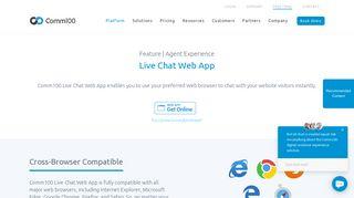 Live Chat Web App - Comm100 Live Chat