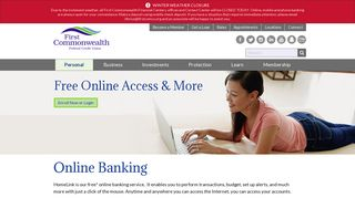 Online Banking - First Commonwealth Federal Credit Union