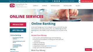 Online Banking | CommonWealth One Federal Credit Union