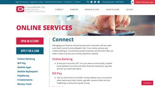 Online Services | CommonWealth One Federal Credit Union