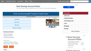 First Commonwealth Federal Credit Union - Allentown, PA at 450 ...