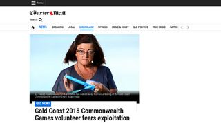 Gold Coast 2018 Commonwealth Games volunteer fears exploitation