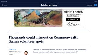 Thousands could miss out on Commonwealth Games volunteer spots