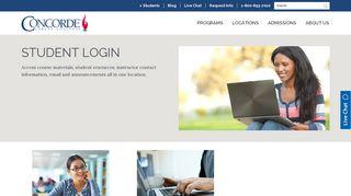 Student Login - Concorde Career College