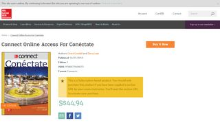 Connect Online Access for Conéctate - McGraw-Hill Education