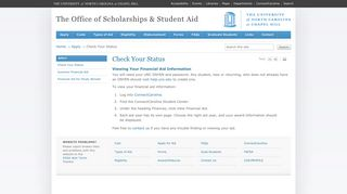 Check Your Status – The Office of Scholarships & Student Aid