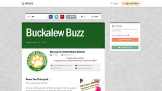 Buckalew Buzz | Smore Newsletters for Education