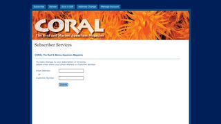 Subscriber Services | Coral Magazine