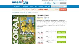 Coral Magazine Subscription Discount | Magazines.com