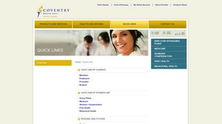 Quick Links - Coventry Health Care