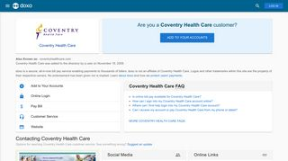Coventry Health Care: Login, Bill Pay, Customer Service and Care ...