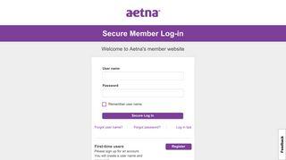 Login - New Member Login - Aetna's member website