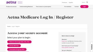 Aetna Medicare Log In / Register | Aetna Medicare