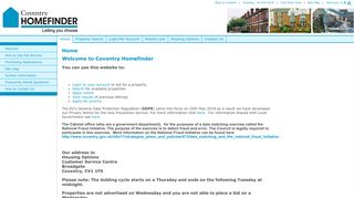 Coventry Homefinder