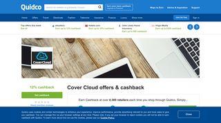 Cover Cloud Cashback, Voucher Codes & Discount Codes | Quidco